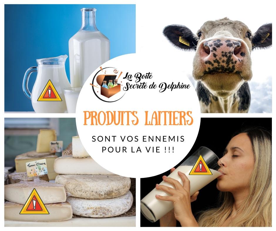 Les produits laitiers sont vos ennemis pour la vie