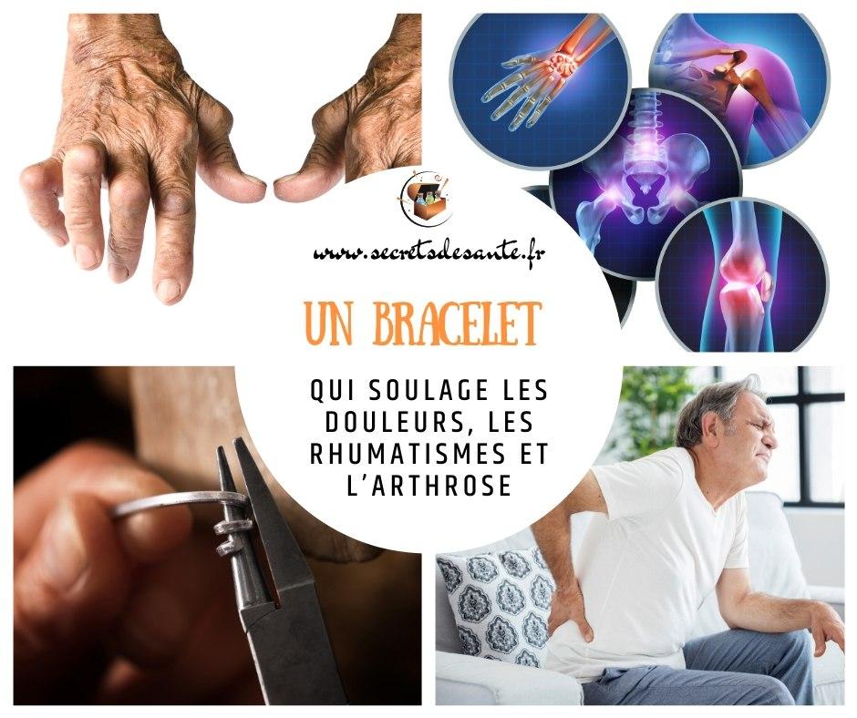 Un bracelet qui soulage les douleurs, les rhumatismes et l'arthrose